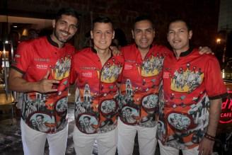 Daniel Arze, Juan Carlos Rivero, Juan Pablo Rosado y Ricardo Ribera