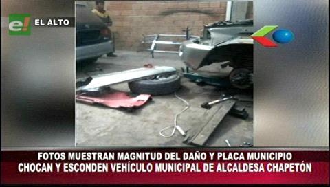 Denuncian que vehículo oficial de la Alcaldesa Chapetón protagonizó un hecho de tránsito