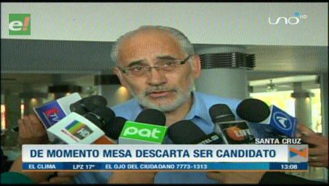 """Carlos Mesa: """"No es momento de candidaturas, soy militante de la defensa del 21F"""""""