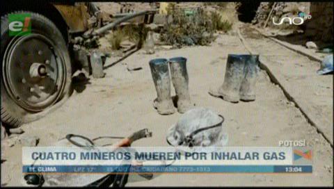 Parte de una familia muere por un gas venenoso en una mina