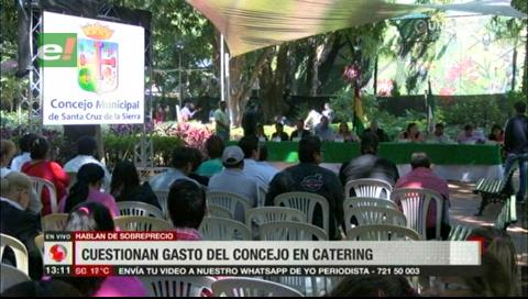 Santa Cruz: Denuncian supuesto nuevo sobreprecio en el Concejo Municipal con el servicio de catering