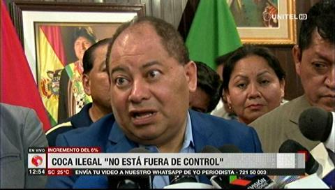 Romero asegura que Bolivia sigue siendo modelo de la lucha contra el narcotráfico