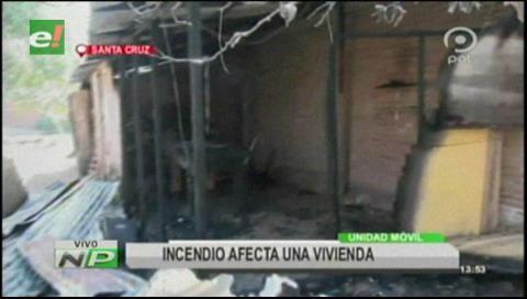 Incendio consume una vivienda por la radial 10
