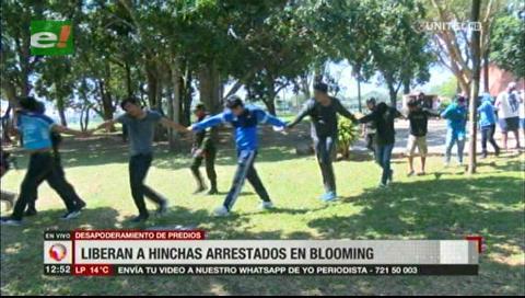 Liberan a hinchas de Blooming detenidos durante toma de terrenos del club