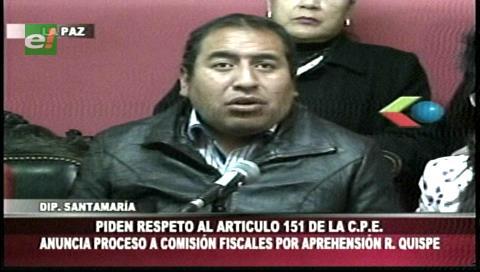 Detención del diputado Quispe: Anuncian demanda contra fiscales