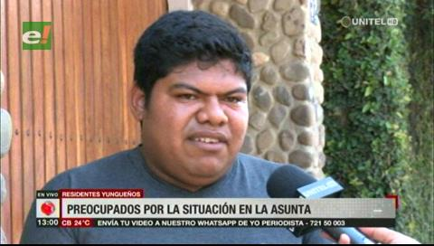 Residentes de Los Yungas en Santa Cruz preocupados por situación en La Asunta