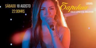 Show acústico de Vanessa Añez en Tapekua
