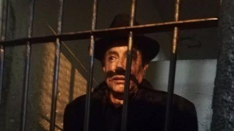 El diputado Rafael Quispe en celdas judiciales.