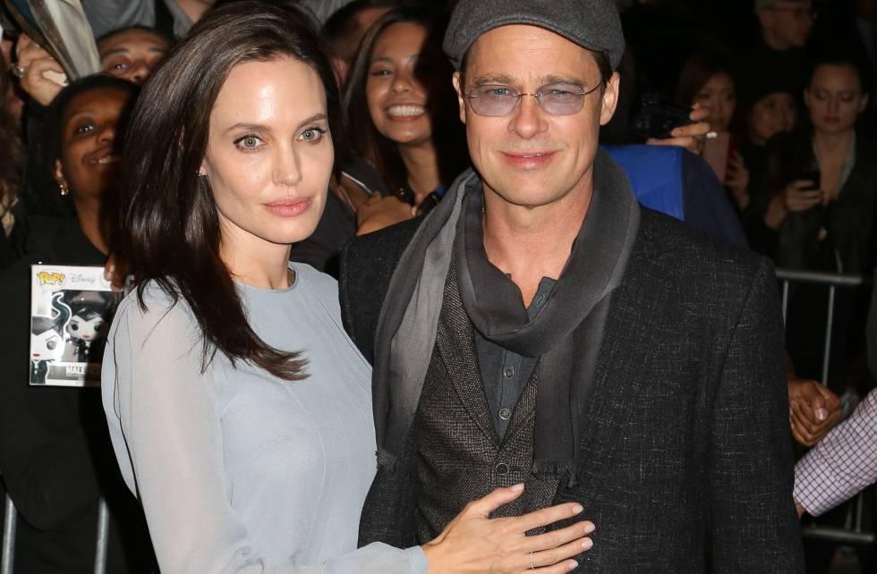 Angelina Jolie y Brad Pitt en 2015.