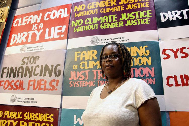 La activista zimbabuense Mela Chiponda. Foto: EFE