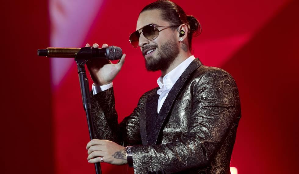 Maluma, en un concierto el pasado jueves, en Madrid.