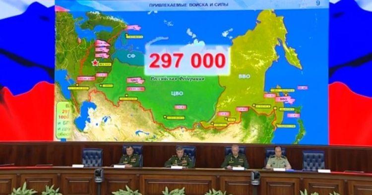 Los altos mandos del ejercito en agosto mostraron el alcance de los ejercicios
