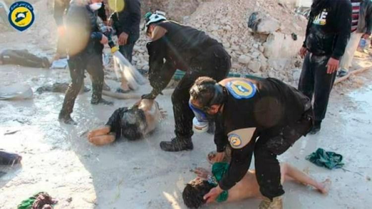 Imágenes de un ataque químico del régimen sobre Guta Oriental