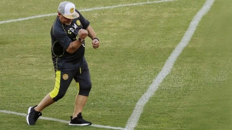 Dorados de Sinaloa es la primera experiencia de Diego Maradona en suelo mexicano (REUTERS/Henry Romero)
