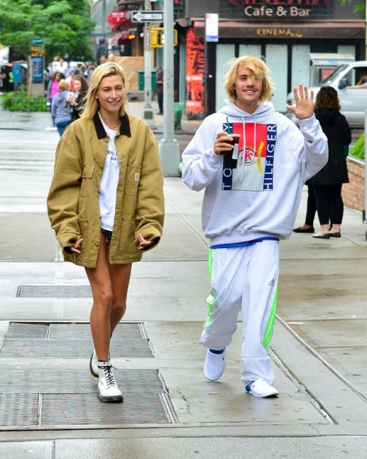 Justin Bieber y Hailey Baldwin inseparables en Nueva York (The Grosby Group)