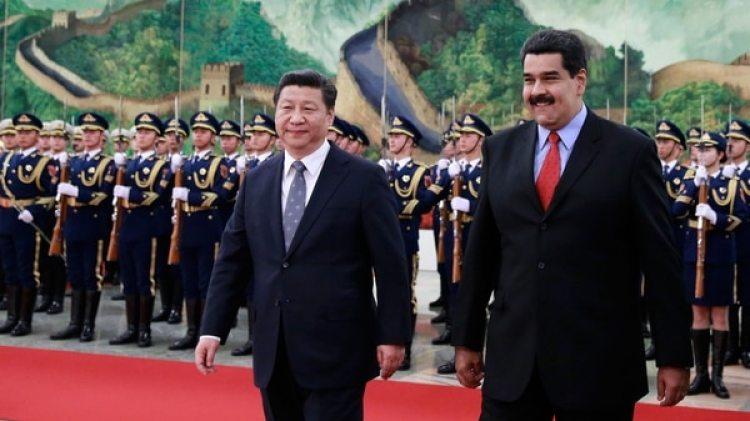 Imágen de la visita de Maduro a China en enero de 2018 (Getty Images)