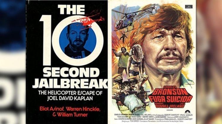 """La portada del libro editado en inglés que narra """"La Fuga del Siglo"""" y la adaptación cinematográfica protagonizada por Charles Bronson."""