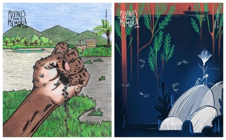 Manuel Ramírez Mosquera, reclamante de tierras de Riosucio, Chocó; y Albert Martínez Olarte, defensor de la sustitución de cultivos ilícitos en Cauca. De ambos no existen fotografías.