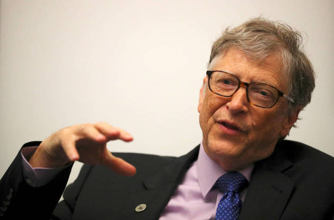 Bill Gates, durante una reciente entrevista (Reuters)