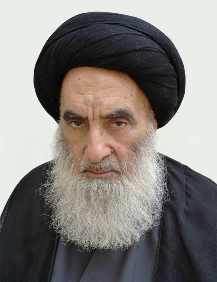 El Ayatolá Ali Al Sistani, principal clérigo chiita iraquí y mediador en los conflictos sectarios