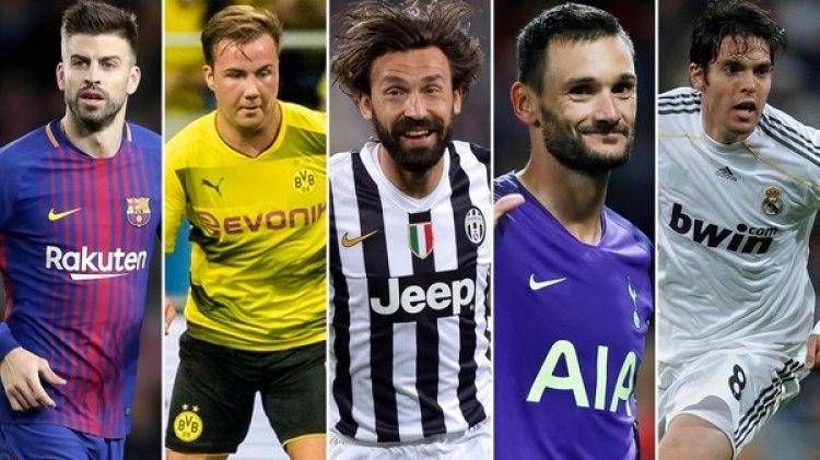 Piqué, Götze, Pirlo, Lloris y Kaká son algunos de los futbolistas que ya nacieron ricos