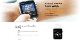 Audible, de Amazon, llega ahora a los relojes inteligentes de Apple
