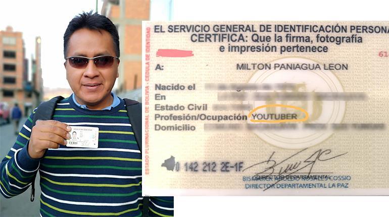 Un boliviano se registra como