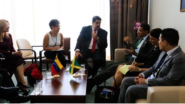 Se reúne Maduro con dos fuertes aliados en la ONU