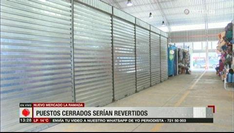 Los puestos cerrados del nuevo mercado La Ramada podrían ser revertidos