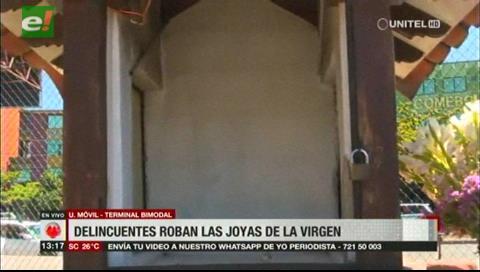 Santa Cruz: Roban joyas y dinero de la Virgen de Urkupina de la Bimodal