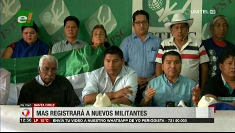 El MAS anuncia campaña para registrar militantes en Santa Cruz