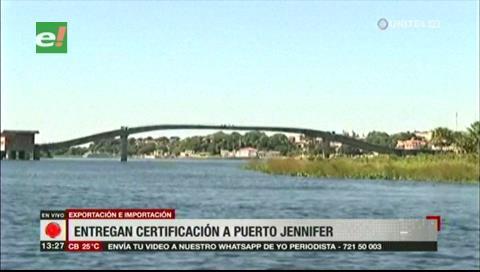 Entregan certificación para que Puerto Jennifer se convierta en internacional