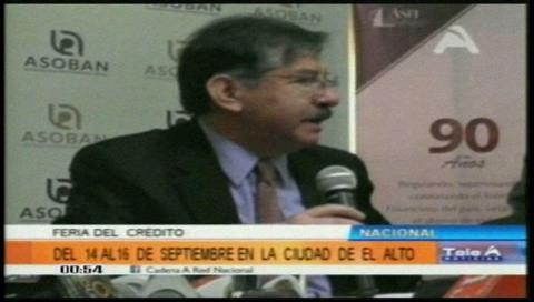 Anuncian segunda Feria del Crédito y Servicios Financieros en El Alto