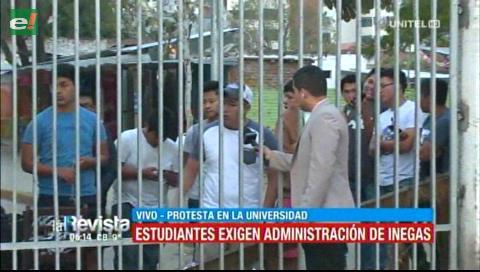 Estudiantes de la Uagrm piden la administración de Inegas