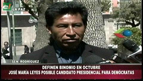 Senador Rodríguez: Leyes es un posible candidato presidencial