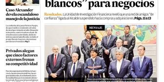 Portadas de periódicos de Bolivia del martes 18 de septiembre de 2018