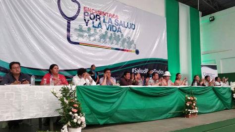 Clausura del Encuentro Nacional por la Salud y la Vida en Santa Cruz.
