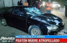 Peatón pierde la vida tras ser arrollado por un vehículo que iba a gran velocidad