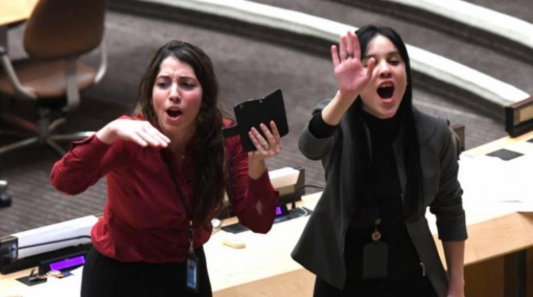 EEUU pide condenar actuación de delegados de Bolivia y Cuba tras escándalo en  la ONU