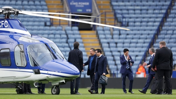 El helicóptero en el que viajaba el magnate tailandés