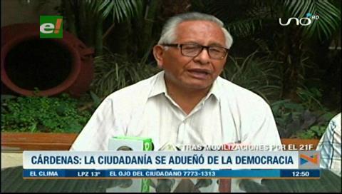 """Víctor Hugo Cárdenas: """"Si hay que ser candidato estoy dispuesto"""""""