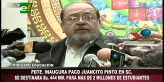 Evo inaugurará el pago del Bono Juancito Pinto en Montero
