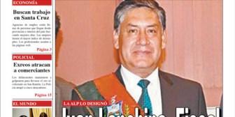 Portadas de periódicos de Bolivia del miércoles 10 de octubre de 2018