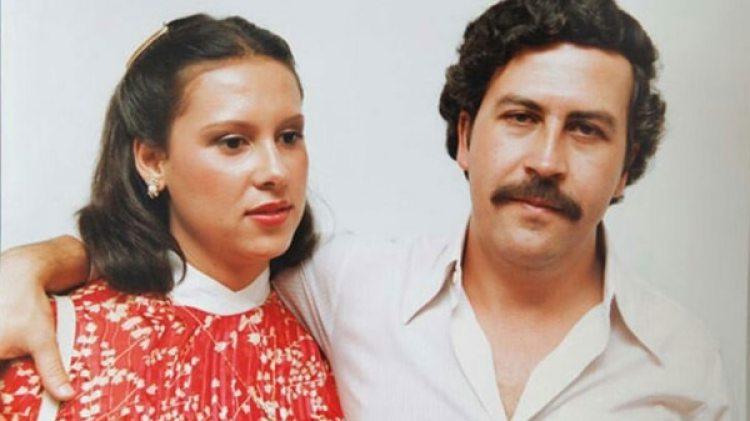 Victoria Eugenia Henao junto a su esposo, el narcotraficante Pablo Escobar.