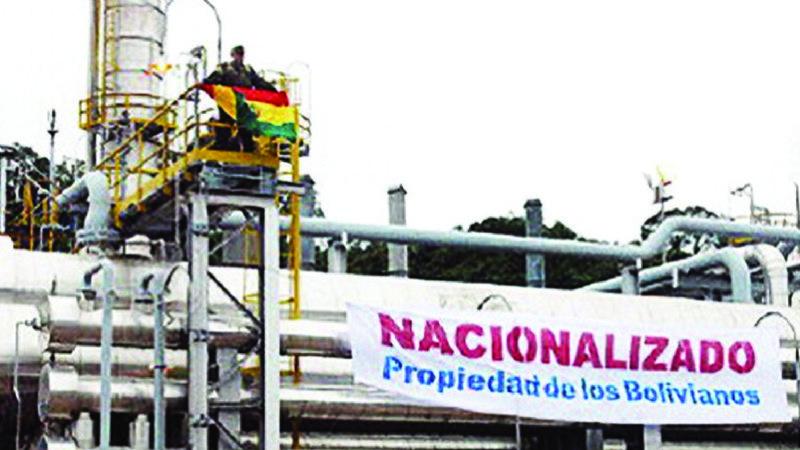 Celebran los 12 años de la nacionalización en Bolivia