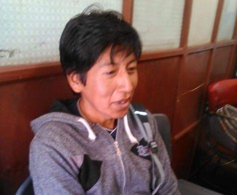 El ciudadano identificado como Moisés Montero Choque, en dependencias policiales de Potosí. Foto: RRSS