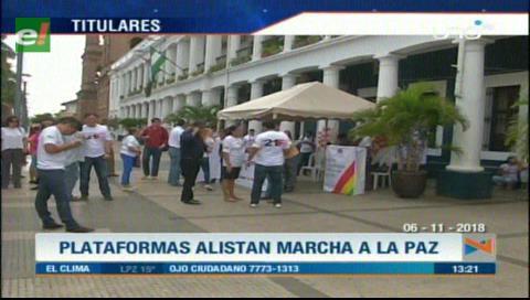Video titulares de noticias de TV – Bolivia, mediodía del martes 6 de noviembre de 2018