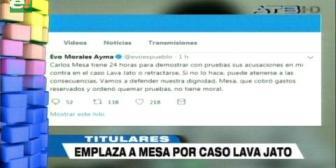 Video titulares de noticias de TV – Bolivia, mediodía del martes 13 de noviembre de 2018