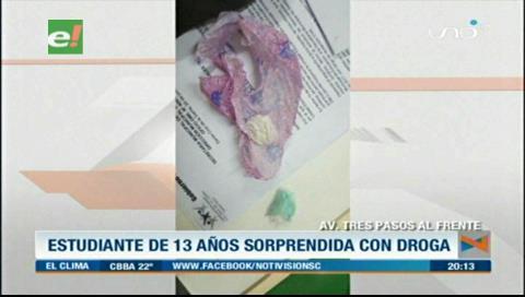 """Niña es sorprendida con supuesta """"droga"""""""
