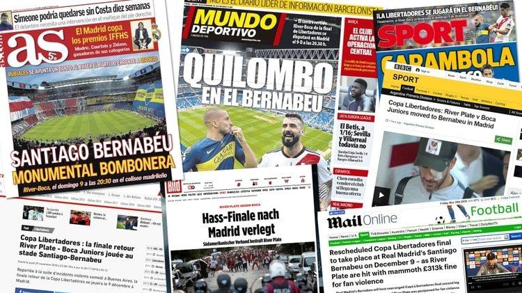 La prensa gráfica y radial española dedicada al fútbol o al deporte le dedican grandes espacios al River Boca. Otros países europeos también registran el evento